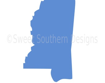 Mississippi outline SVG instant download design for cricut or silhouette