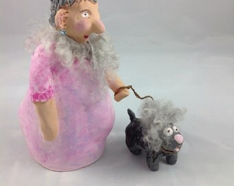 Ceramic figurine - Hannelore with Giesbert.