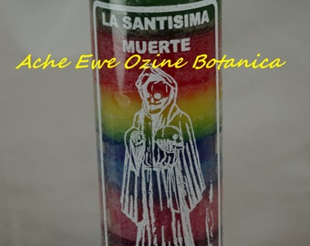 Holy Death, Our Lady of the Holy Death, 7 Color Candle,Santa Muerte, Santisima Muerte