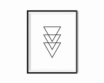 PRINTABLE INSTANT DOWNLOAD - Triangles Wall Art - Poster Decor - House Decor - Abstract Minimalist Art