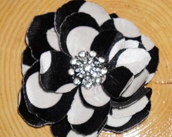 Black & White Pin on Flower