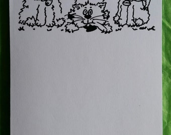 Cats A6 notepad