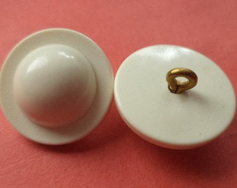 Button white wool-white 19 mm (5999) 10 buttons