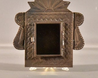 Sunburst Tin Nicho (Mexican Shadow box)