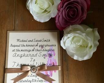 Orchid  wedding invitation (sample pack)
