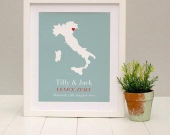 Personalised Treasured Location Print