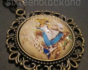 Vintage style Alice in Wonderland keyring