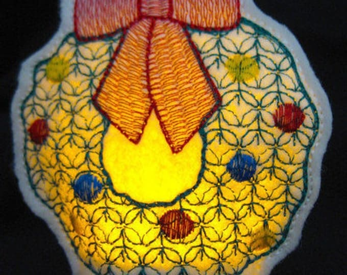 Christmas Tealights  ( 10 Machine Embroidery Designs from ATW )