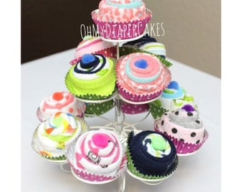 Individual Washcloth Cupcakes, Boxed Set, Baby Shower Gift, Unique Baby Gift, Baby Cupcakes, New Baby Gift, Newborn Gift, Gift for Baby