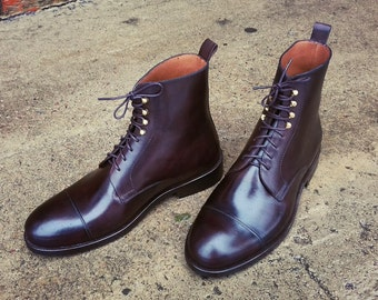 Black Leather Boots, Men's Boots, Leather Boots, Handmade Boots, Custom Boots