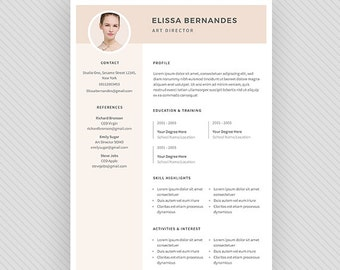 "Resume Template / CV Template + Cover Letter for MS Word and Photoshop | Instant Digital Download - ""Avior"""