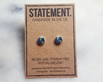 Planet Earth / World Stud Earrings - 1 pair