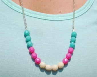 Colorful Glass Bead Necklace, More Color Options!