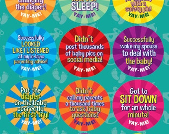 Yay-Me Adult Reward Stickers - NEW PARENTS