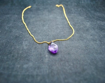 Gold-Plated Amethyst Necklace ~ FREE SHIPPING