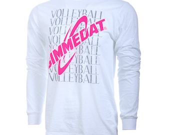 SALE! GIMMEDAT Volleyball Long Sleeve Volleyball T-Shirt, Volleyball Shirts, Volleyball Gift - Free Shipping!