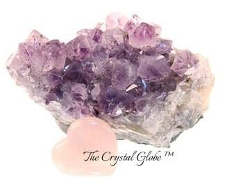 AMETHYST CRYSTAL CLUSTER Rough Amethyst Mineral Cluster Semiprecious Gemstone Amethyst Stone Raw Amethyst Cluster Speckled Amethyst Crystal