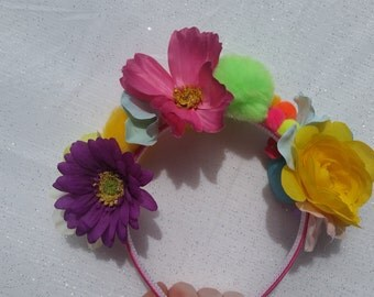 Pompom Flower Crown