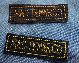 Mac Demarco Embroidered Bag Jacket Punk Rock Alternative Mini Micro Patch