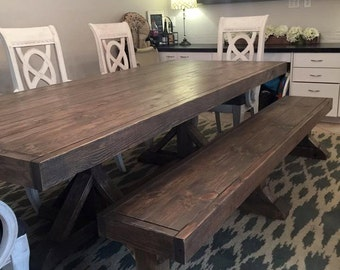 Fancy Farmhouse Bench (Local Pick up/Delivery Only!)