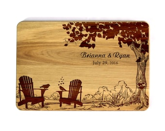 Wood Cutting board Romantic gift Wedding Family tree Personalized Wedding Gifts for newlyweds Wedding gift for bride and groom Bridal Shower