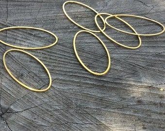 Brass Oval Link - 12 Pieces - #218