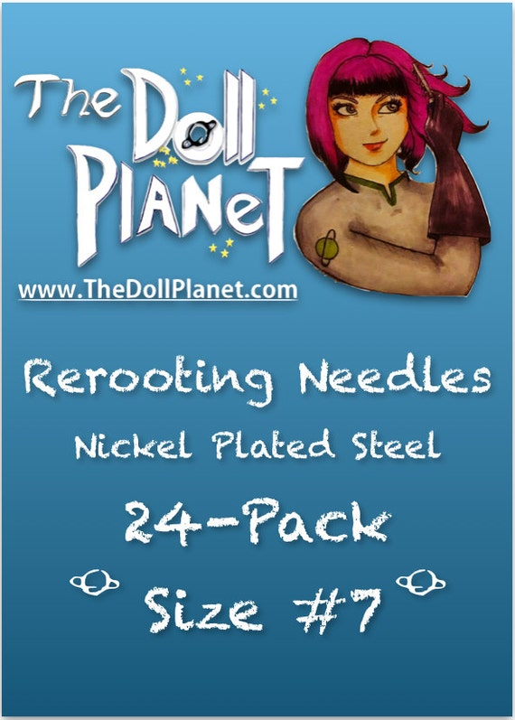 24-Pack #7 Rerooting Needles Cut Steel For Rerooting Fine Detail & Small heads Mego, Dawn, Monster High, Barbie, My Little Pony Int Ship