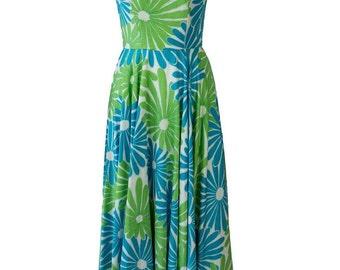 1950s Floral Garden Party Floral Dress
