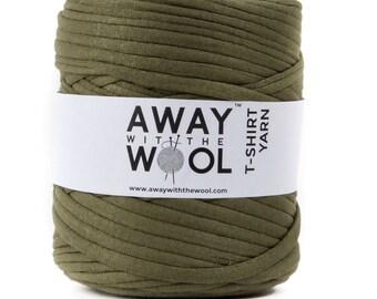 Olive Green LARGE T-Shirt Yarn Roll.
