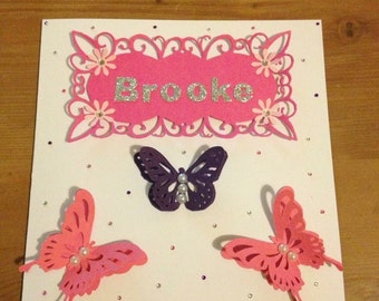 Personalised Butterfly Birthday Cards