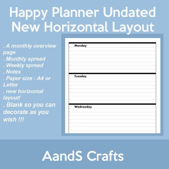 ... Planner Horizontal Refills, MAMBI Happy Planner, Create 365 Planner