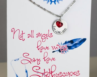 Nurse Necklace - Not All Angels Have Wings Necklace - Ready to Gift  - Nurse Gift - Doctor Gift - Doctor Necklace