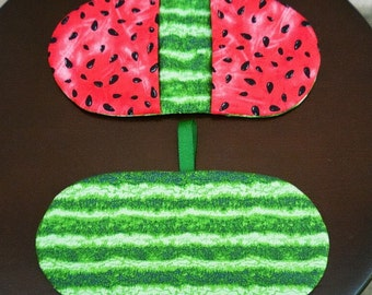Fingertip Microwave Mitt - Microwave Pot Holder - Mini Mitts - Pinchers - Watermelon Themed - Microwave Mitts - Gift under 10