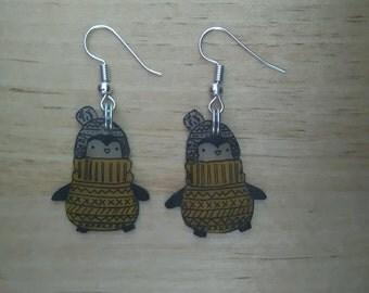 Penguin kawaii earrings 3