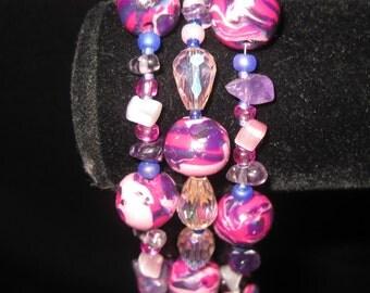 Three Strand Bead Bracelet