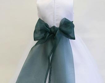HOLLY HUNTER Organza Flower Girl Dress Sash