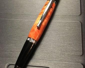 WeCrafted Orange Maple Burl Pen