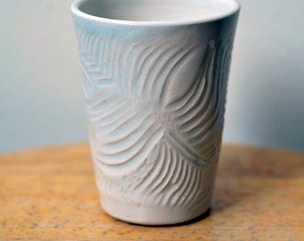 Ceramic Tumbler Cup 'Glacial' Wheel Thrown Pottery