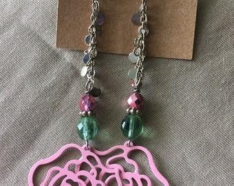 Rose Chain Earrings