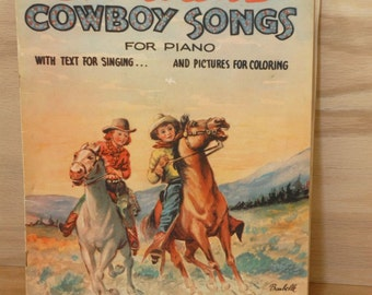 Childrens Cowboy Songs songbook - cowboy sheet music