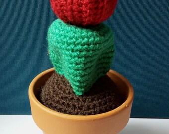 Cactus Amigurumi Crochet Red