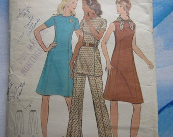 Butterick 6582 1970s Separates Sewing Pattern 16 1/2