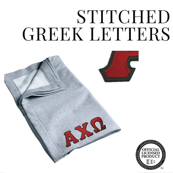 alpha chi omega blanket custom stitched greek letters With custom stitched greek letters