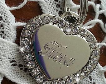 dog cat ID TAG Luxury Engraved jewel