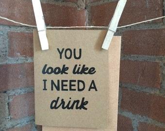 Drink Greeting Card