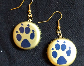 Seadog Bluepaw Bottle Cap Earrings