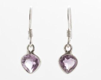 Amethyst Earrings - Silver Earrings - Dangle & Drop Earrings - Gemstone Earrings - Amethyst Silver Earrings - Handmade Earrings
