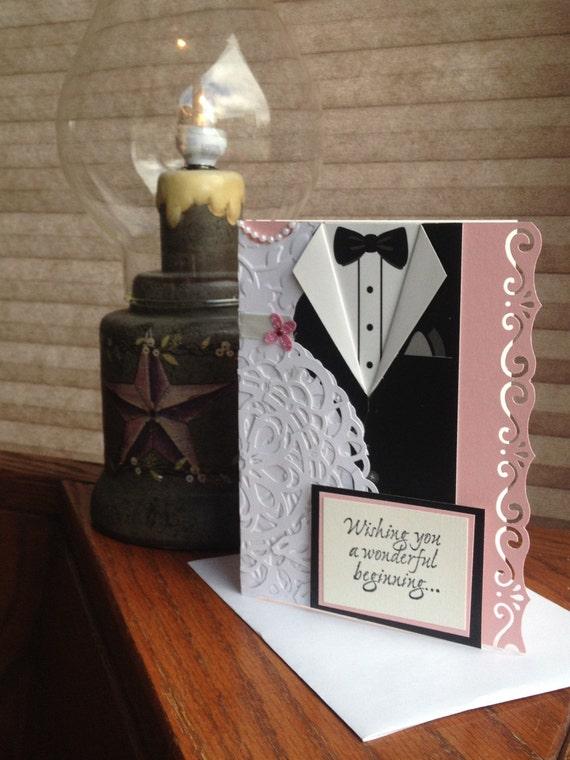 Wedding Gift Card Inscriptions : Wedding Card Wedding Greeting Card Homemade Wedding Card