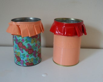 Duct Tape Ruffle Pencil Holders