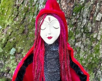 Witch Bottle Altar Spirit Doll- Amoretta